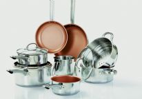 Cermalon Stainless Steel Copper Pan Set - 11 Piece
